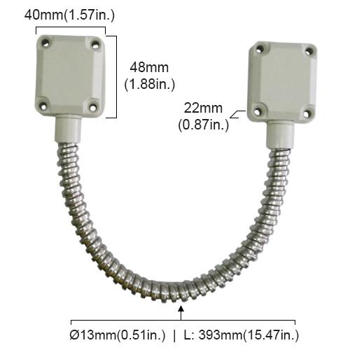 VIS-2000-medidas  sc 1 st  Visionis & VIS-2000 - Flexible Stainless Steel Armored Door Loop Zinc plated ...