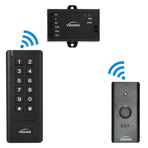 Indoor Wireless Exit Button Receiver Keypad Reader Vis