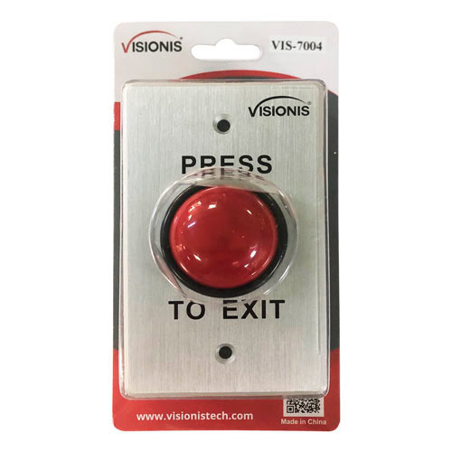 Vis 7004 Small Red Round Request To Exit Button For Door