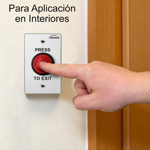 VIS-7004-exit-buttons-diagram  sc 1 st  Visionis & VIS-7004 - Small Red Round Request to Exit Button for Door Access ...