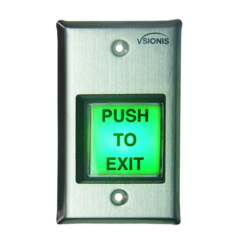 Vis 7100 Green With Led Square Request To Exit Button