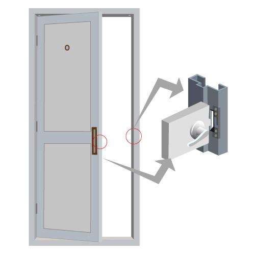 VIS EL102 FSA diagram vis el102 fsa 2200lbs electric door strike for wood and metal