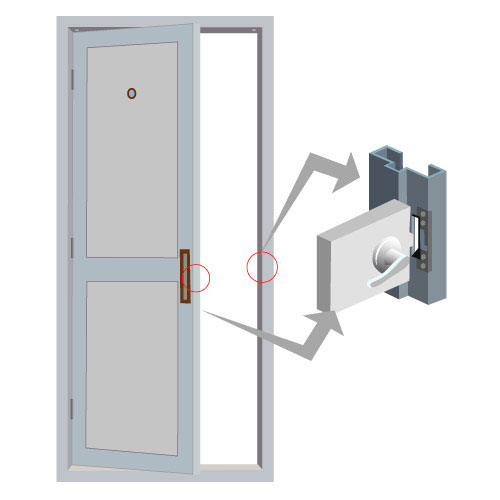 Vis El104 Fsesa 2200lbs Electric Door Strike For Wood
