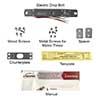 electric drop bolt items vis dp102 fse led visionis