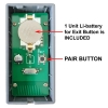 VIS-8013, Indoor + Black + Access Control + 433MHz Wireless Request to Exit Button