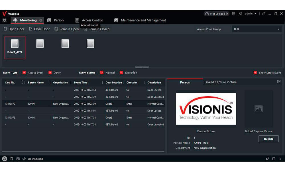 VSAXESS Desktop Software - Visionis