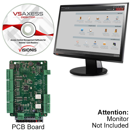 Visionis VS-AXESS-2ETL Two Door Network Access Control Panel Controller TCP//IP