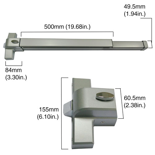 Vis 500 Pb Emergency Commercial Exit Panic Push Bar For