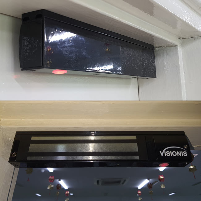 VIS-ML600LED-BL - Black 600LBS Indoor Electric Lock with LED Sensor