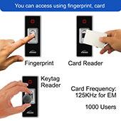 access biometric fingerprint standalone outdoor card pin items visionis vis 3024