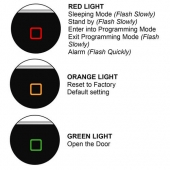 access biometric fingerprint standalone outdoor waterproof led lights visionis vis 3024