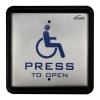 handicap push button door access control front visionis vis 7039