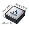 handicap push switch door access control dimension visionis vis 7039