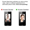 face recognition access control face anti spoofing vis frio visionis